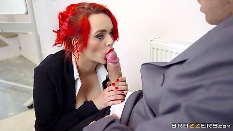 Big dick cock sucking Jasmine James in testing the teacher