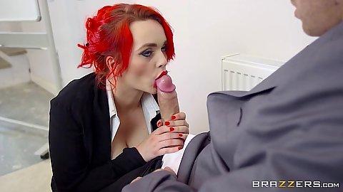 Big dick cock sucking Jasmine James in testing the teacher
