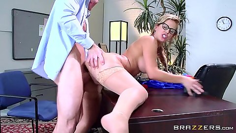 Office standing fuck with milf in stockings Cherie Deville