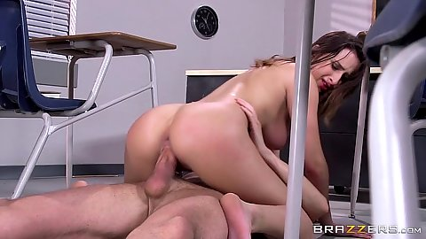 Classroom Ashley Adams having sex on the floor after school