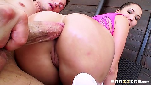 Promiscuous asian anal penetration with London Keyes
