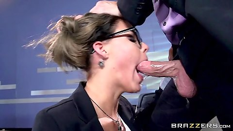 Rough shagging with a shrink Peta Jensen in the office