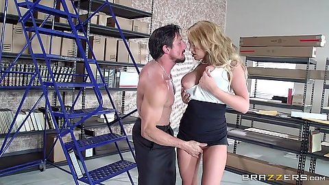 Office files room fuck around with secretary Corinna Blake
