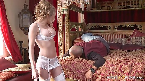 Bras and panties gorgeous blonde Shawna Lenee in pre honemoon fuck