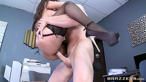 In the air office fucking from elegant Reena Sky