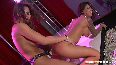 Strap on bachelorette party fuck Brandy Aniston and Abigail Mac