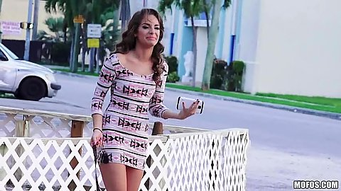 Fully clothed in public Kimmy Granger gets into a car