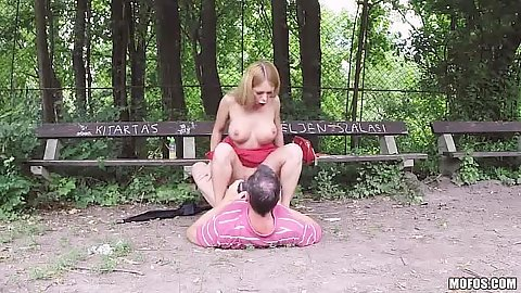 Cowgirl sex in public with classy Russian chick Isabella Clark