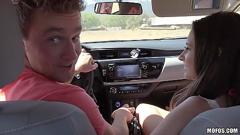 Sweetheart fully clothed Cassidy Klein taking a drive