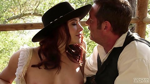 Kissing and fingering western story based porn with Chanel Preston
