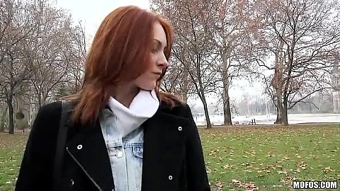 Russian redhead public pick up for some money Alice Marshall