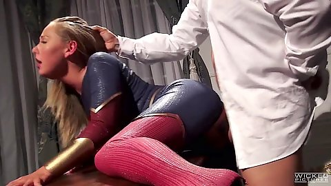 Standing fuck with Superman parody chick Carter Cruise