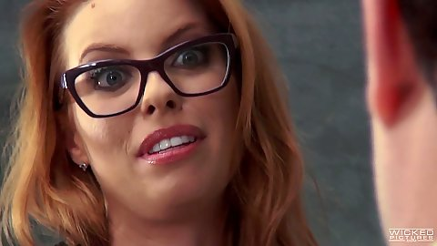 Redhead Britney Amber enters the school of fuck