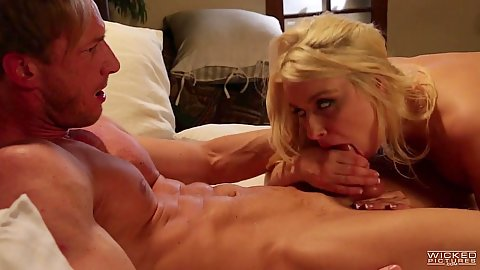 Dick sucking and and humping on it behind the scenes with Anikka Albrite