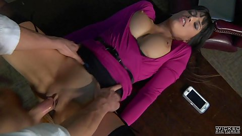 Open legs front secretary pussy slamming on table Mercedes Carrera