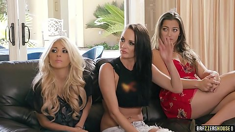 Fully clothed group brazzers house party from Kaylani Lei and Gianna Nicole and Alektra Blue