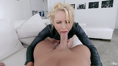 Cock sucking star Staci Carr pov view