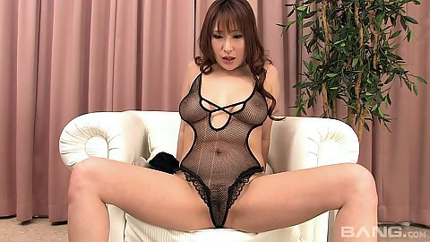 Obsessed asian in lingerie self touching