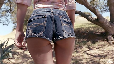 Kennedy Kressler outdoor getting naughty and naked under a cool spring breeze