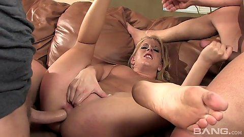 Submissive milf whore Desire Moore double penetration and anal