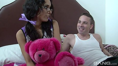 Pleasurable latina teen Tia Cyrus is a skinny cheerleader
