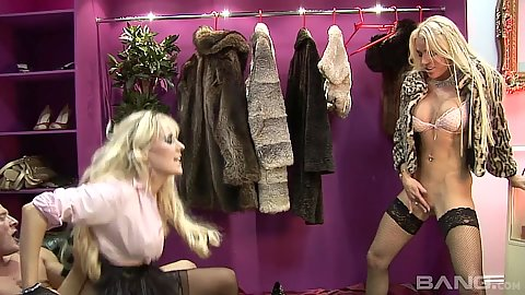 Clothing store sex from on fire Syren Sexton and Cindy Behr