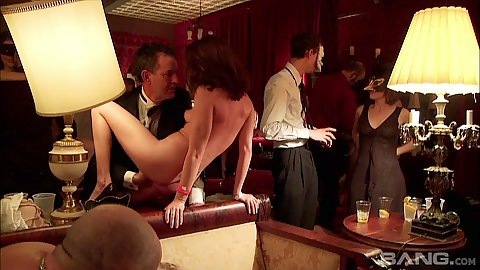 Charming wives have sex Princess Donna and Annie Cruz for everyone to watch at swingers party