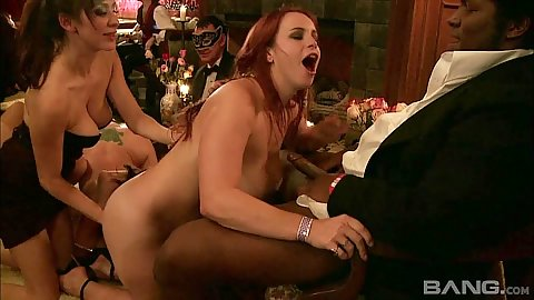 Fingering and crewing around with slutty wives Princess Donna and Annie Cruz at swingers party