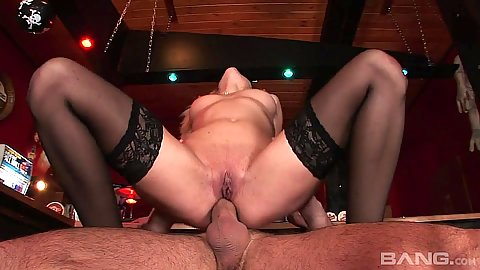 Reverse cowgirl anal dick riding slut Lena Cova