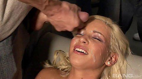 Bukkake facial slut Kacey Jordan looking nice