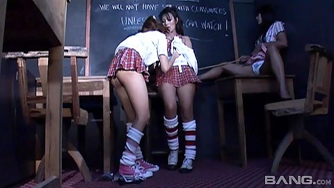 Asian school girl play house with Meena and Rewedy giving sex class