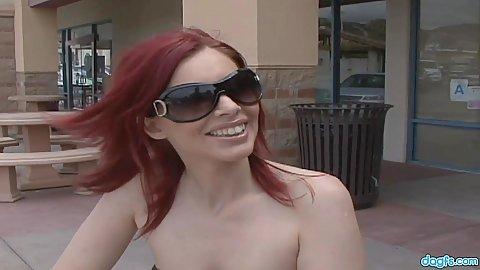 Smiling fabulous amateur redhead milf Marsha Lords