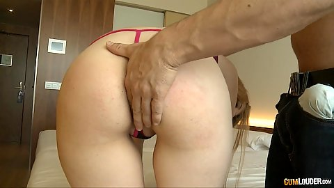 Smutty Rena Reindeer fingered and cock inserted in mouth