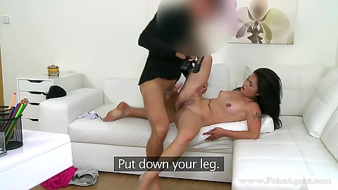 Petite Adriana having her audition all naked and fucked