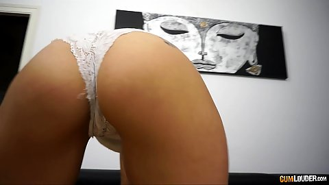 Teasing ass in panties with stellar Silvana Violet