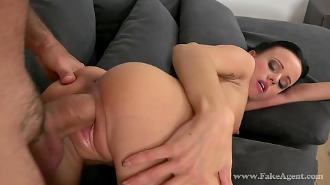 Petite audition first time sex tape Tina has sex with a large cock