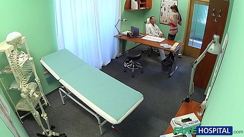 Doctors office hidden camera Chelsy helping sexy patient