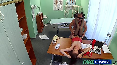 Horny patient Chelsy screwed by doctor on his hospital office table
