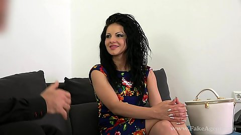 Lovely interview with Romanian casting model Amalia fully clothed