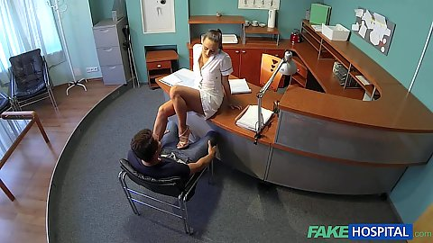 Nurse with a sex craving fetish giving some fun for nick Nick