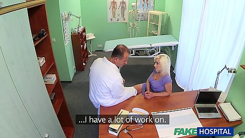 Kinky blonde milf needs doctors dick as soon as possible
