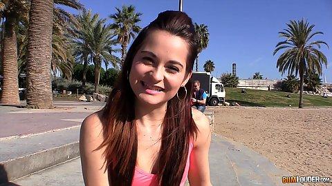 Smiling gorgeous teen Ashley Woods is a petite Czech innocent slut