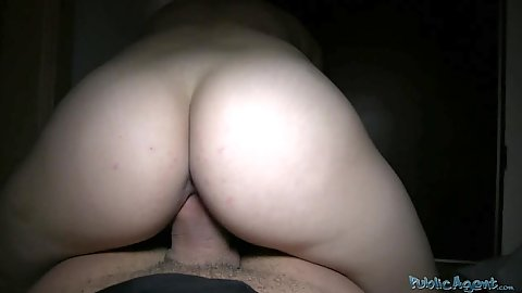 Reverse cowgirl sex with a stranger for money hidden away from public