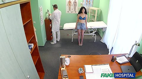 Shy patient gets naked for doctor in his office