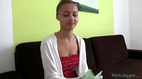 Excited about her first money audition cutie has a nice smile