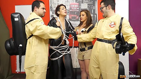 Ghost busters parody group orgy with Lady Rebeca and yarisa Duran