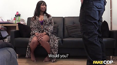 Fake cop catches this black chick Lola