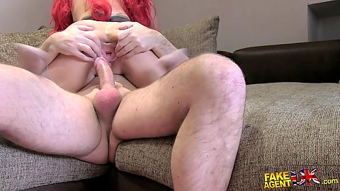 Audition sex causing this amateur to get a gaped pussy