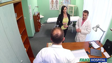 Fully clothed doctors office visit with girl