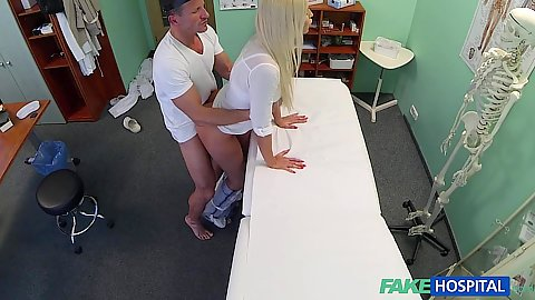 Beautiful girl Karol Dominica having sex with doctor while security cam is rolling